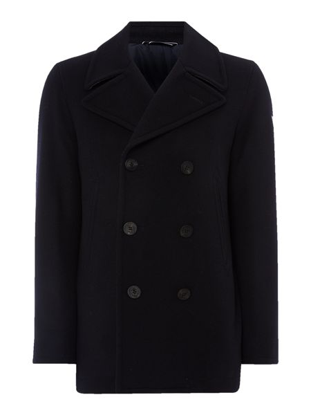Gant Wool-Blend Button-Through Peacoat