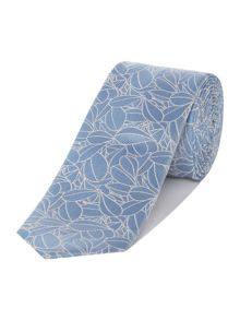 Kenneth Cole Connor Daisy Printed Floral Silk Tie