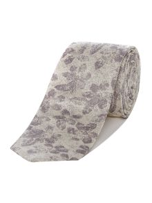 Kenneth Cole Manhatten Tonal Jacquard Floral Silk Tie