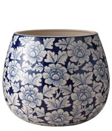 Junipa Flower blue large planter