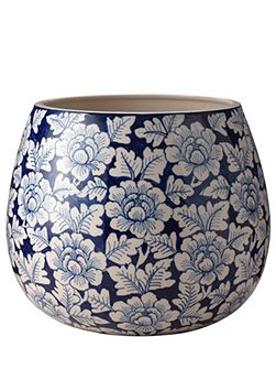 Flower blue large planter