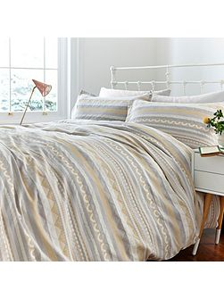Geo jacquard pillowcase pair