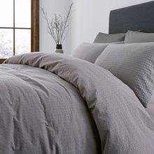 Gray & Willow Diamond washed waffle duvet cover
