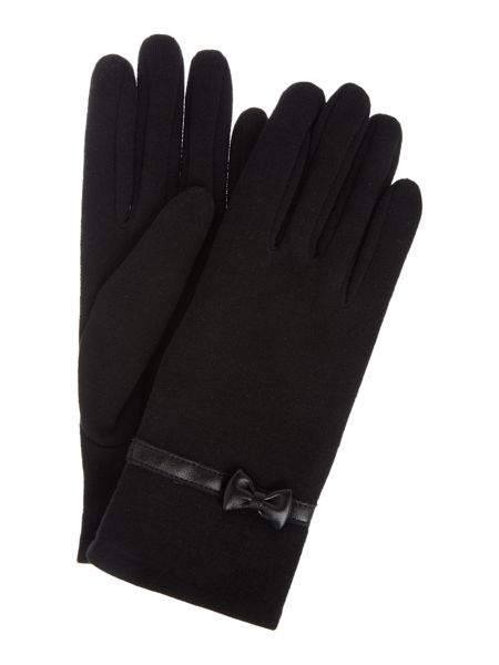 Isotoner Thermal pu bow and strap glove