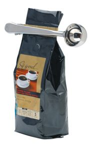 Kitchen Craft Stainless Steel Coffee Measure and Bag Clip