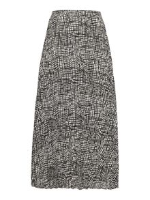 Linea Check print pleated skirt
