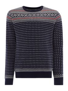 Gant Fairisle Crew-Neck Knitted Wool Jumper