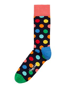 Multi-coloured spot socks