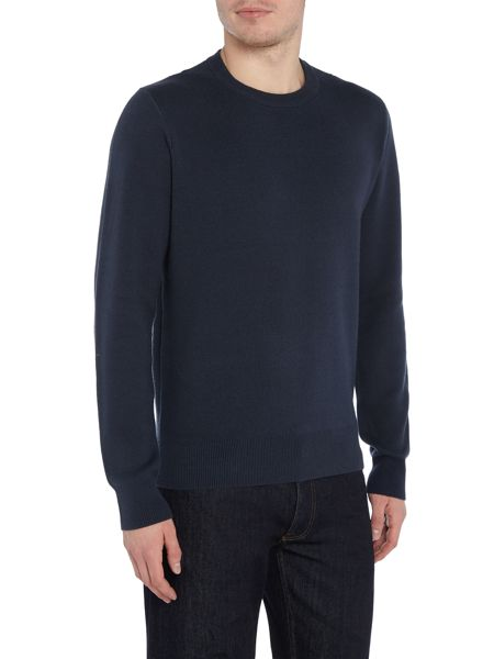 Perry Ellis America Knitted Crew-Neck Cotton-Blend Jumper
