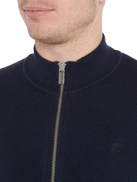 Perry Ellis America Funnel-Neck Full-Zip Cotton-Blend Jumper