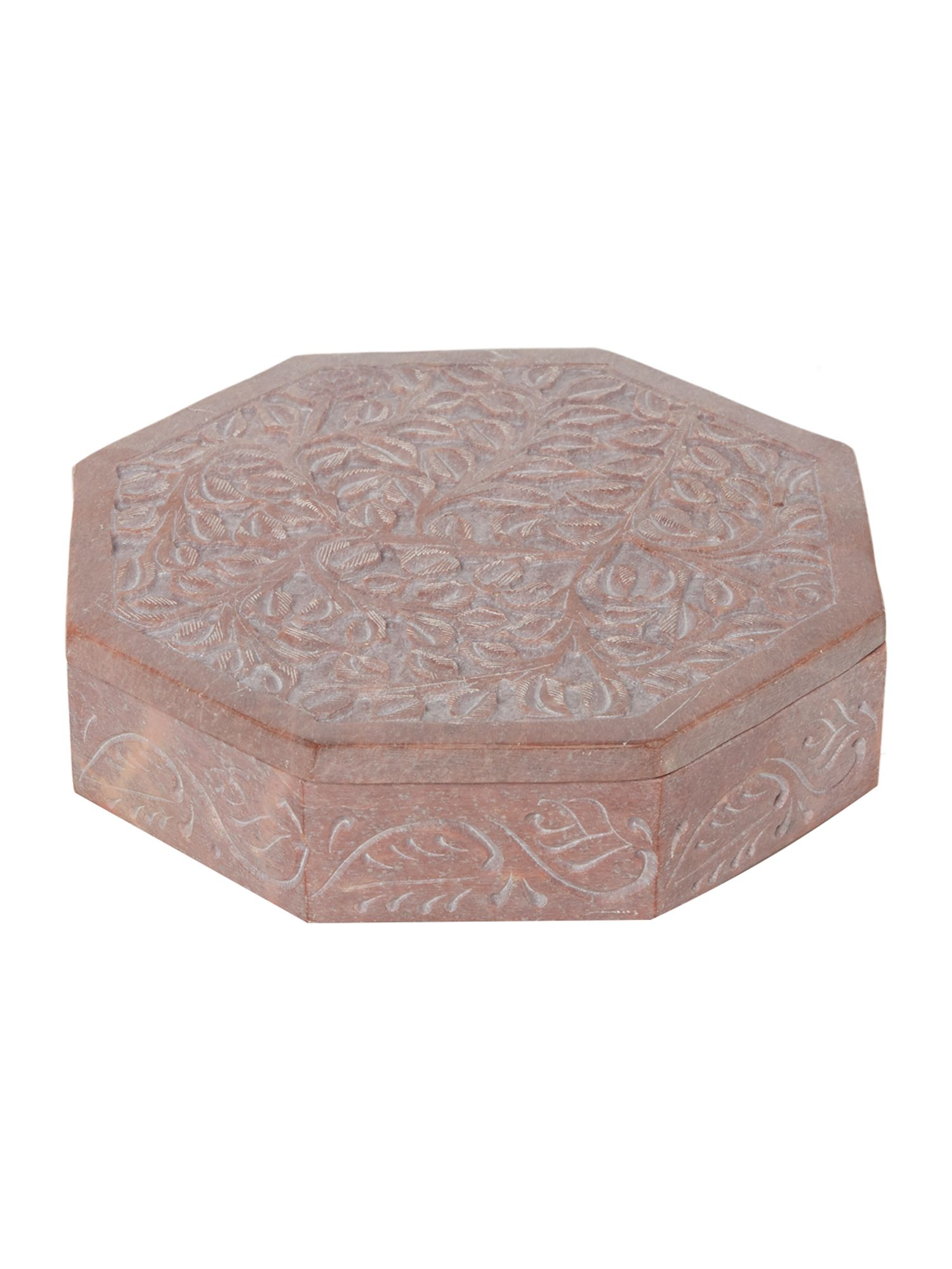 Junipa Hexagonal stone trinket box, N/A