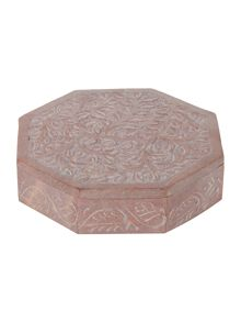 Junipa Hexagonal stone trinket box