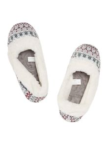 Isotoner Fairisle full back slipper