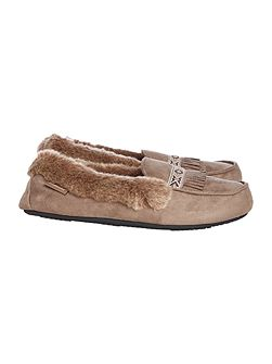 Suedette moccasin
