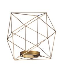 Living by Christiane Lemieux Hexagon pilar candle holder