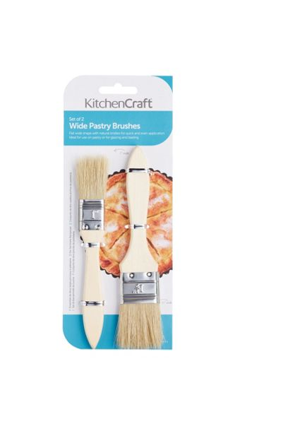 Kitchen Craft Set of 2 Wide Pastry Brushes
