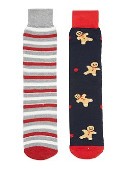 Gingerbread man pack of socks