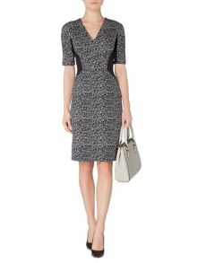 Linea Lexi textured panel detail dress
