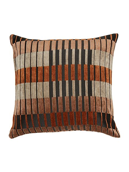 linea block stripe cushion rust house of fraser. Black Bedroom Furniture Sets. Home Design Ideas