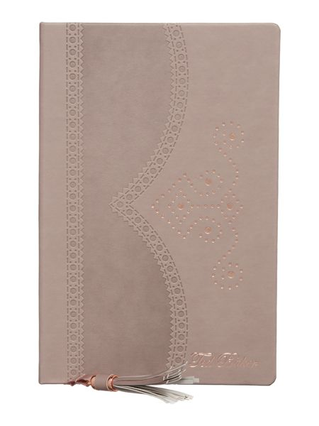 Ted Baker Taupe brogue notebook