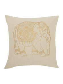 Junipa Hati elephant foil print cushion