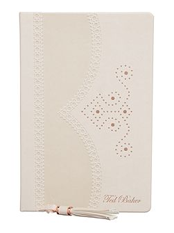 Light pink brogue notebook