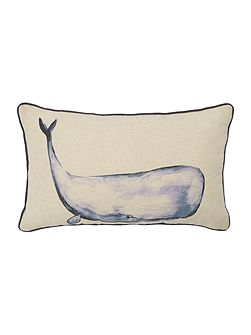 Walter whale print cushion