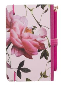 Ted Baker Pink citrus notebook and pen set