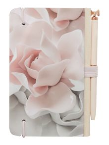 Ted Baker Light pink rose notebook & pen set