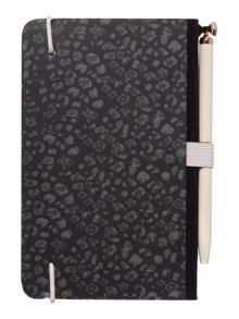 Ted Baker Black fauna notebook & pen set