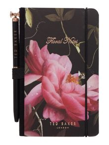Ted Baker Black citrus notebook & pen set