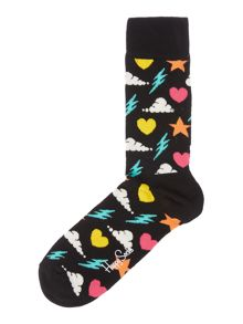 Happy Socks Storm Patterned Socks