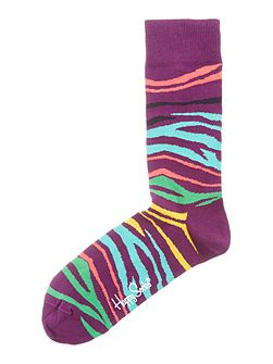 Multi Zebra Print Socks