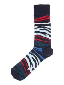 Happy Socks Multi Zebra Print Socks