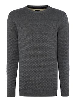 Pearl knit crew neck jumper