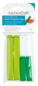 Kitchen Craft Set of 6 Assorted Sized Bag Clips