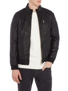 Lindbergh Imitation leather bomber jacket