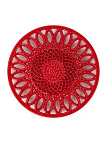Linea Red cast iron trivet