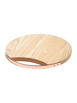 Ash round board with copper handle