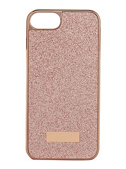 Sparkls light pink glitter iphone 6 case