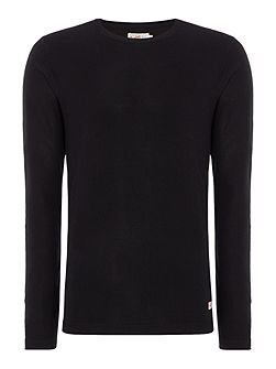 Knitted Crew-Neck Cotton Jumper