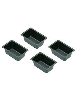Set of 4 Non-Stick Mini Loaf Tins