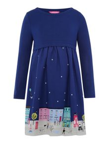 Joules Girl`s Long Sleeve Xmas Dress