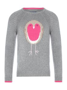 Joules Girls Long Sleeve Glitter Jumper
