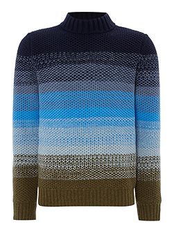 Knitted Crew-Neck Wool-Blend Jumper