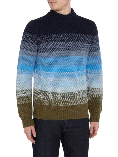 Perry Ellis America Knitted Crew-Neck Wool-Blend Jumper