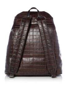 Michael Kors Bryant Mock Crocodile Leather Backpack