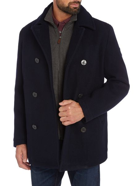 Perry Ellis America Button-Through Peacoat