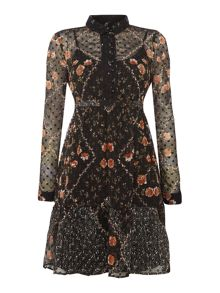 Vero Moda vm lucy long sleeve printed dress