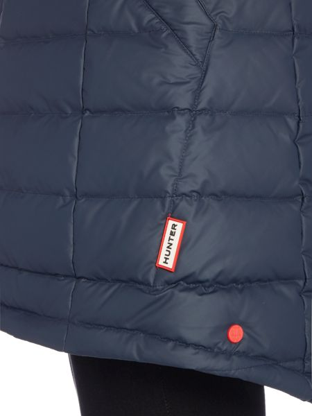 Hunter Original short refined puffa coat